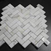 Calacatta White Fish Wave Mosaic