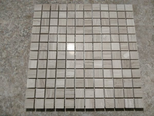 Wooden Grey Marble Mosaic