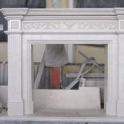 Crema Marfil Fireplace