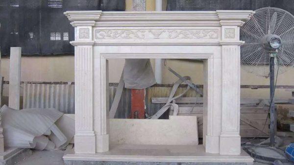 Crema Marfil Fireplace
