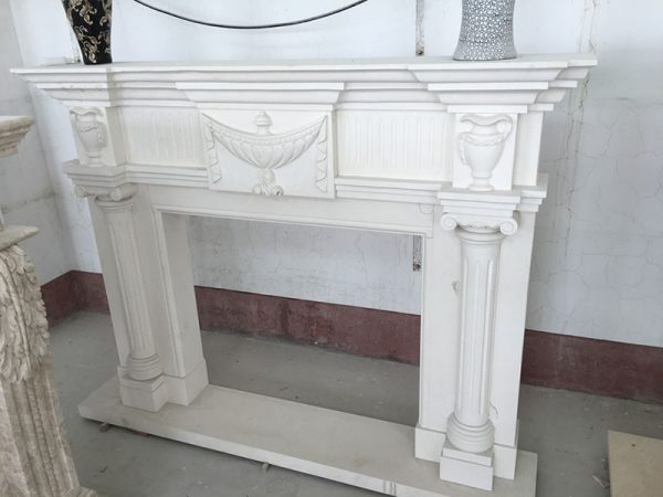 Limestone Carving Fireplace